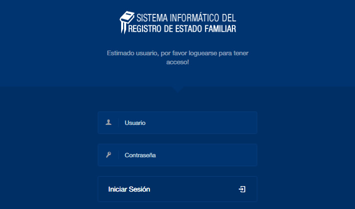 Sistema de Registro Familiar